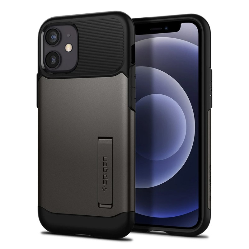 Spigen Slim Armor Case iPhone 12 Mini Gunmetal - 1
