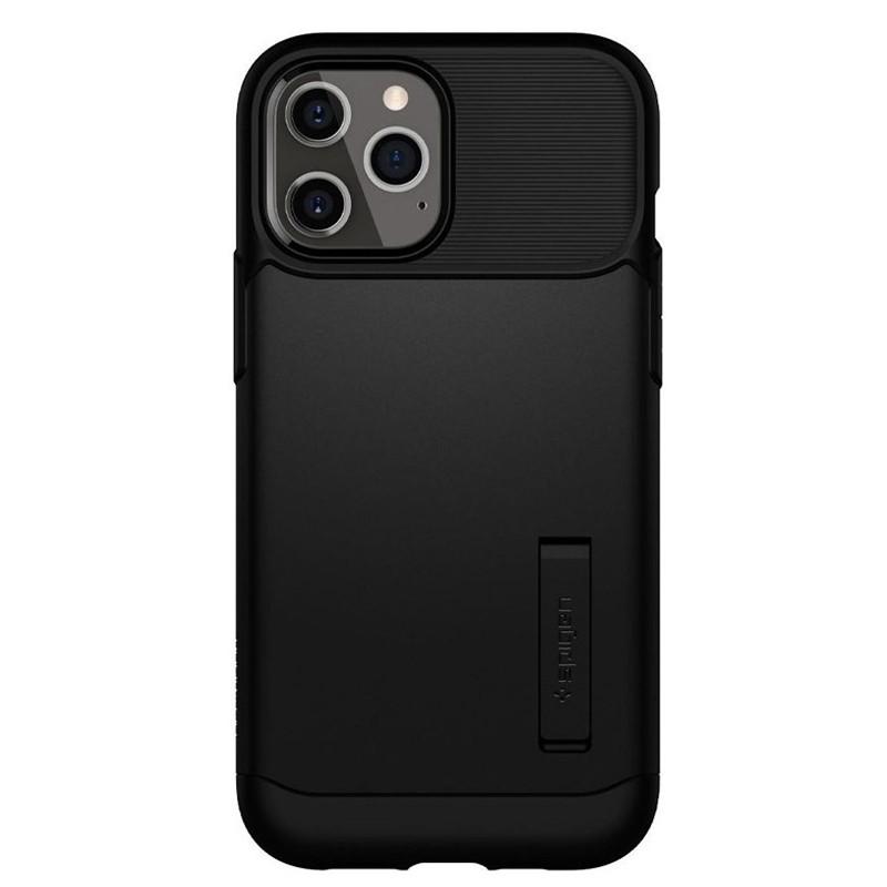 Spigen - Slim Armor iPhone 12 Pro Max 6.7 inch zwart 04