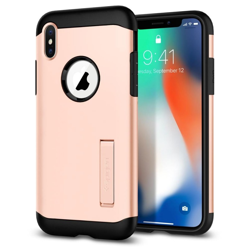 Spigen Slim Armor iPhone X/Xs Blush Gold - 1