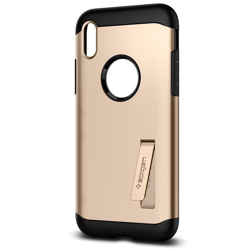Spigen - Slim Armor iPhone 8 Hoesje Champagne Gold 04
