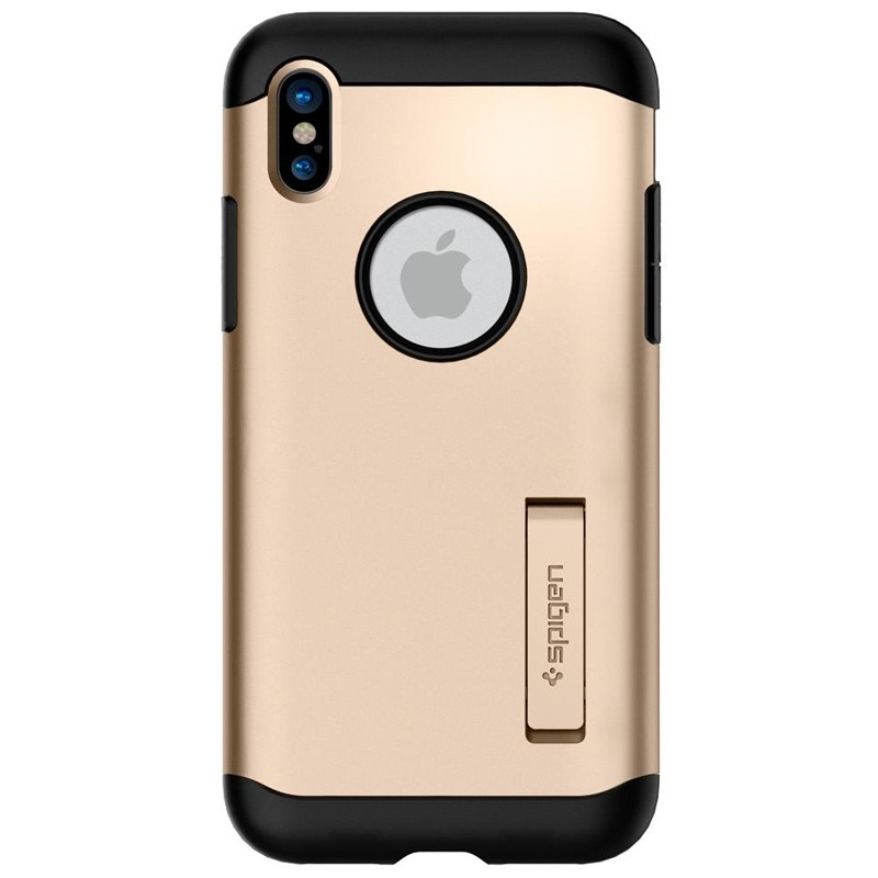 Spigen - Slim Armor iPhone 8 Hoesje Champagne Gold 06