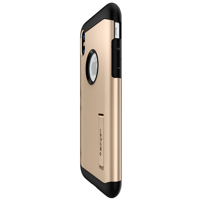 Spigen - Slim Armor iPhone 8 Hoesje Champagne Gold 07