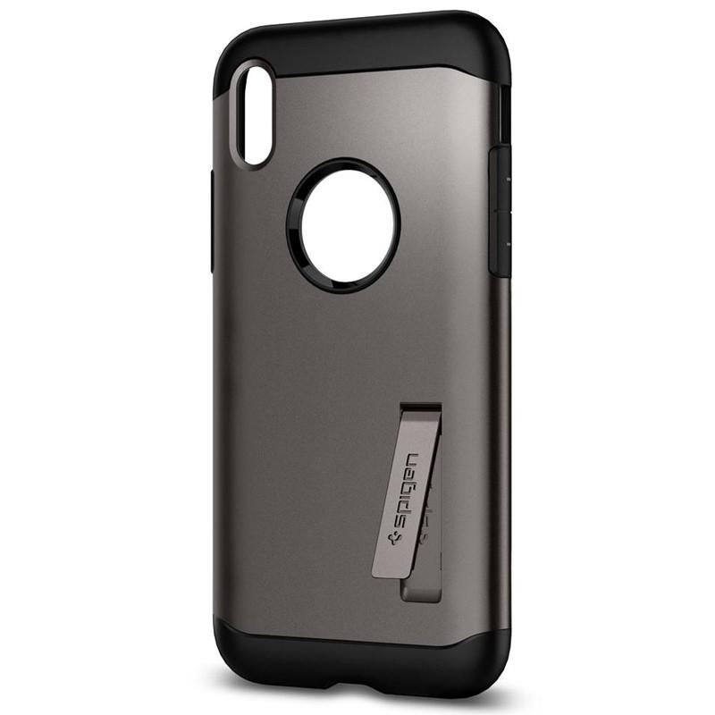 Spigen - Slim Armor iPhone 8 Hoesje Gunmetal 04