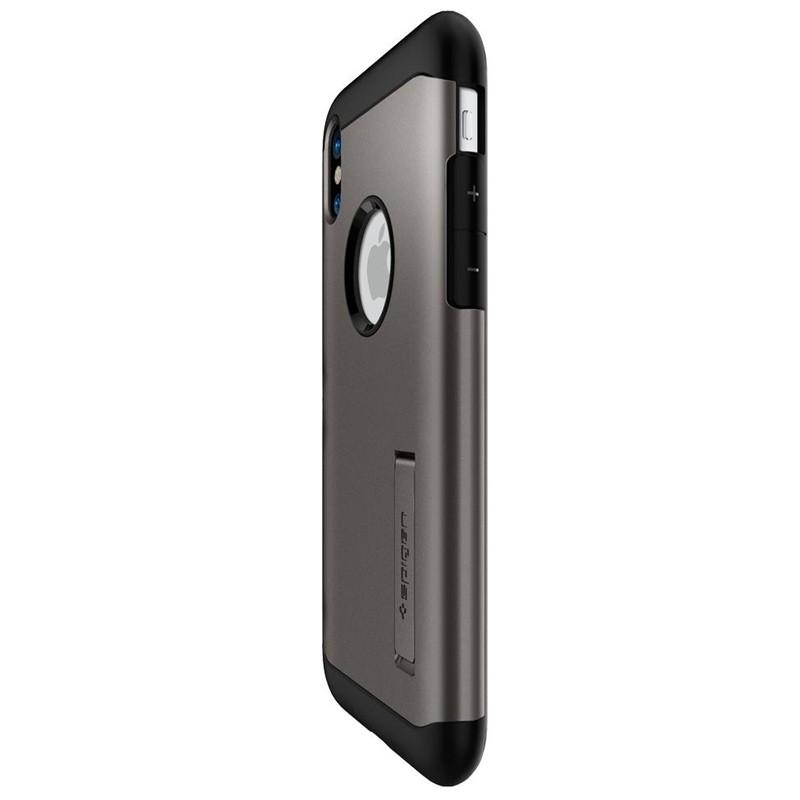 Spigen - Slim Armor iPhone 8 Hoesje Gunmetal 05