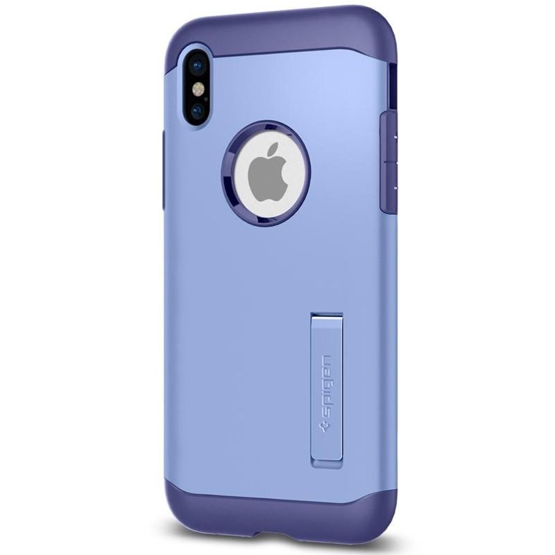 Spigen - Slim Armor iPhone 8 Hoesje Violet 06