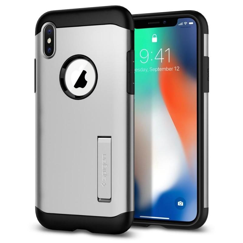 Spigen Slim Armor iPhone X/Xs Zilver - 1
