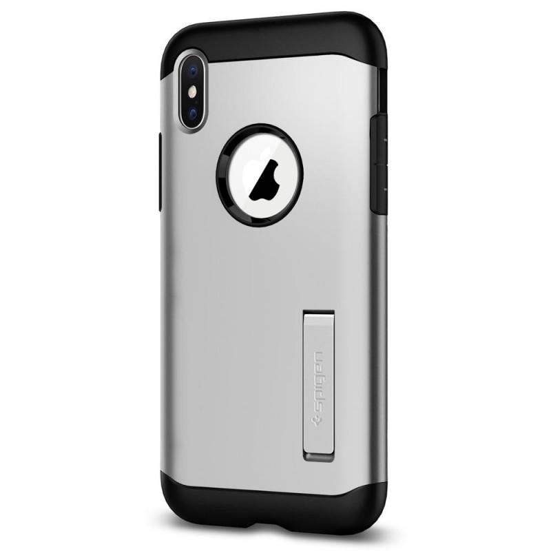 Spigen Slim Armor iPhone X/Xs Zilver - 2