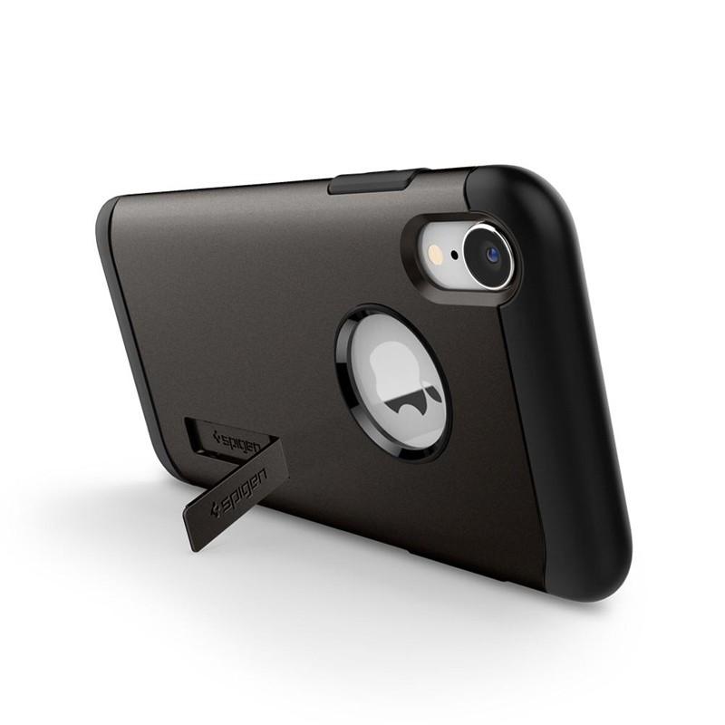 Spigen Slim Armor iPhone XR Hoesje Gunmetal 05
