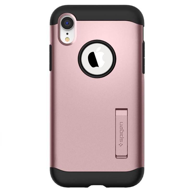 Spigen Slim Armor iPhone XR Hoesje Rose Gold 01