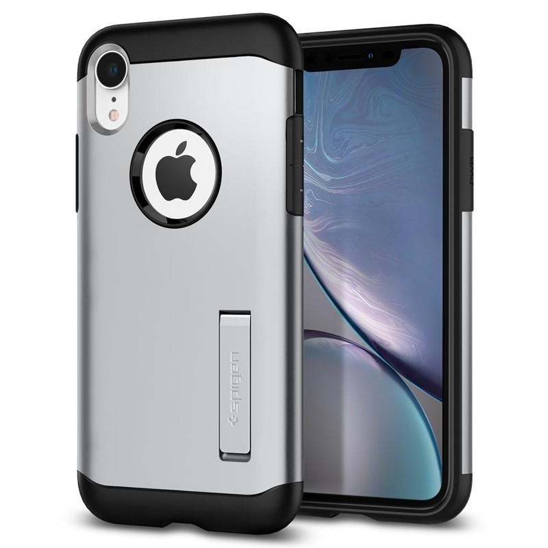 Spigen Slim Armor iPhone XR Hoesje Silver 06