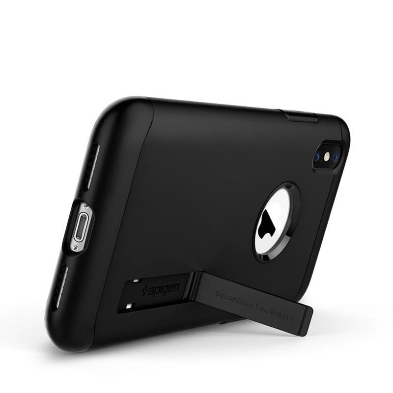 Spigen Slim Armor iPhone XS Max Hoesje Zwart 02