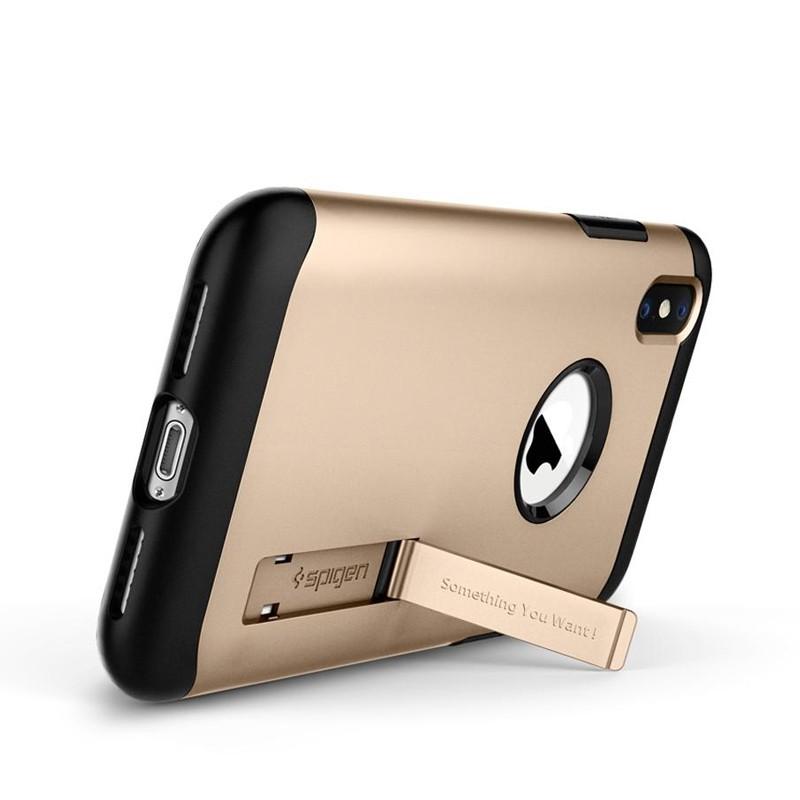 Spigen Slim Armor iPhone XS Max Hoesje Goud 02