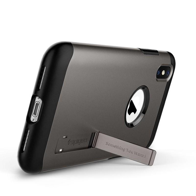 Spigen Slim Armor iPhone XS Max Hoesje Gunmetal 02