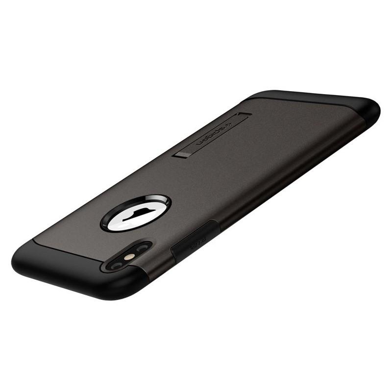 Spigen Slim Armor iPhone XS Max Hoesje Gunmetal 05