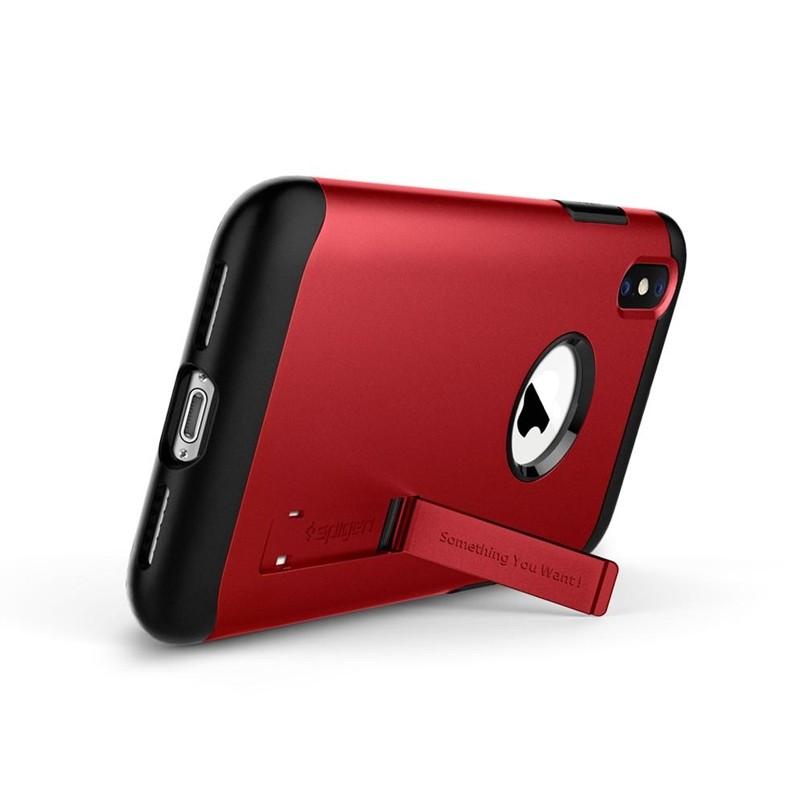 Spigen Slim Armor iPhone XS Max Hoesje Rood 02