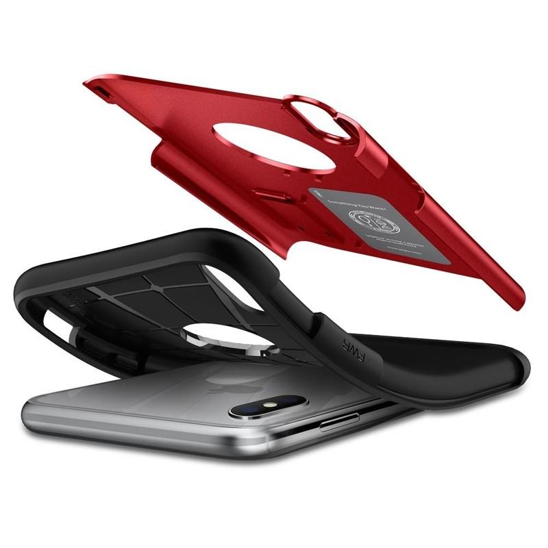 Spigen Slim Armor iPhone XS Max Hoesje Rood 03