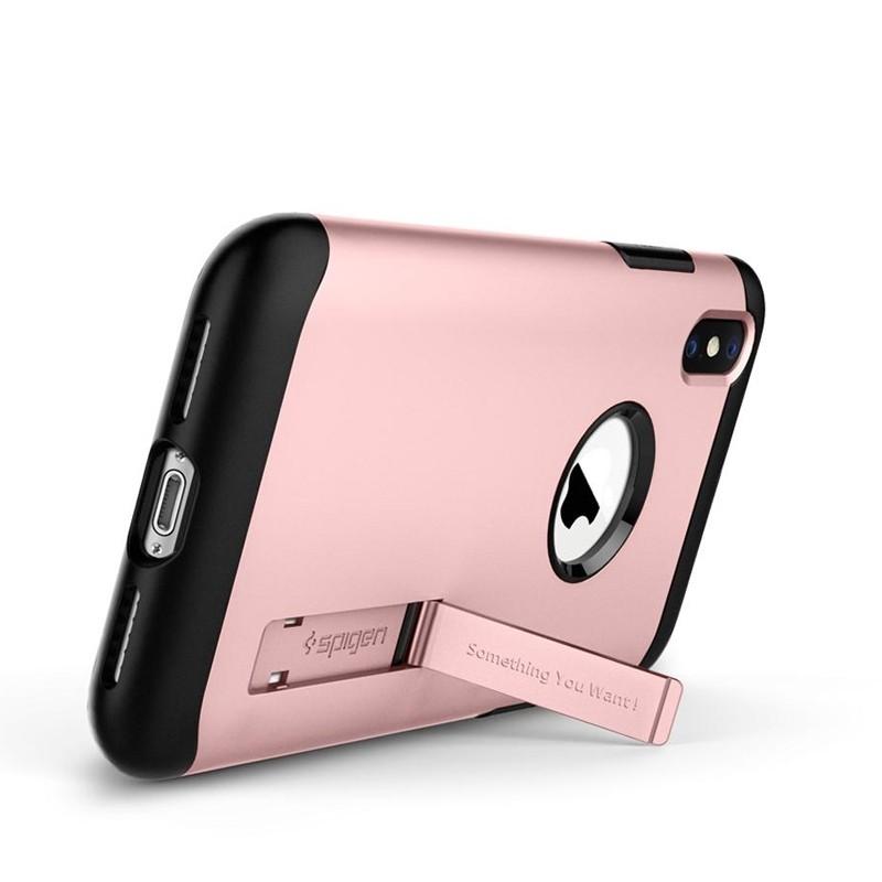Spigen Slim Armor iPhone XS Max Hoesje Roze 02