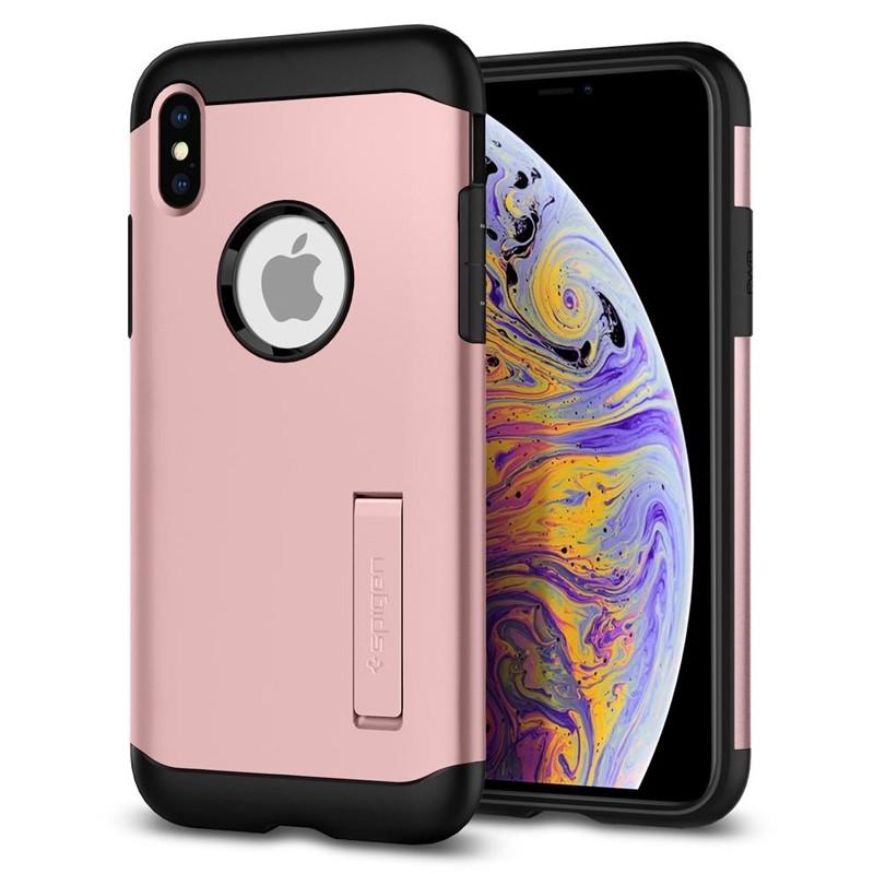 Spigen Slim Armor iPhone XS Max Hoesje Roze 08