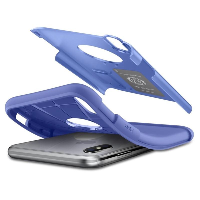 Spigen Slim Armor iPhone XS Max Hoesje Paars 03