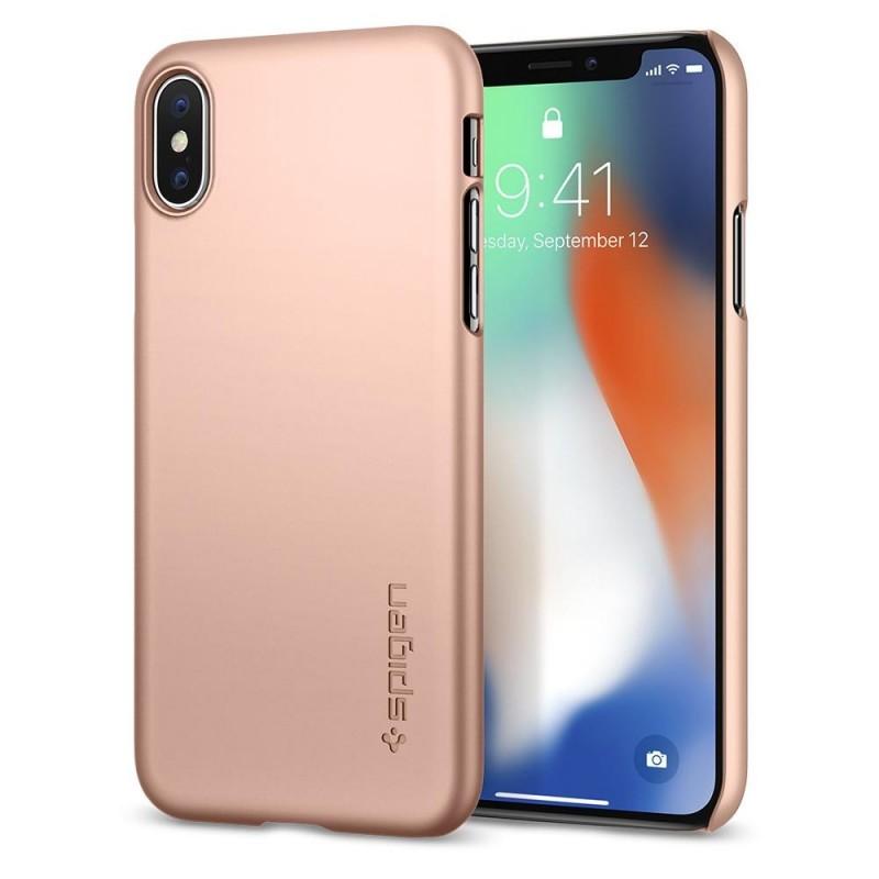 Spigen Thin Fit Case iPhone X/Xs Hoesje Blush Gold - 1