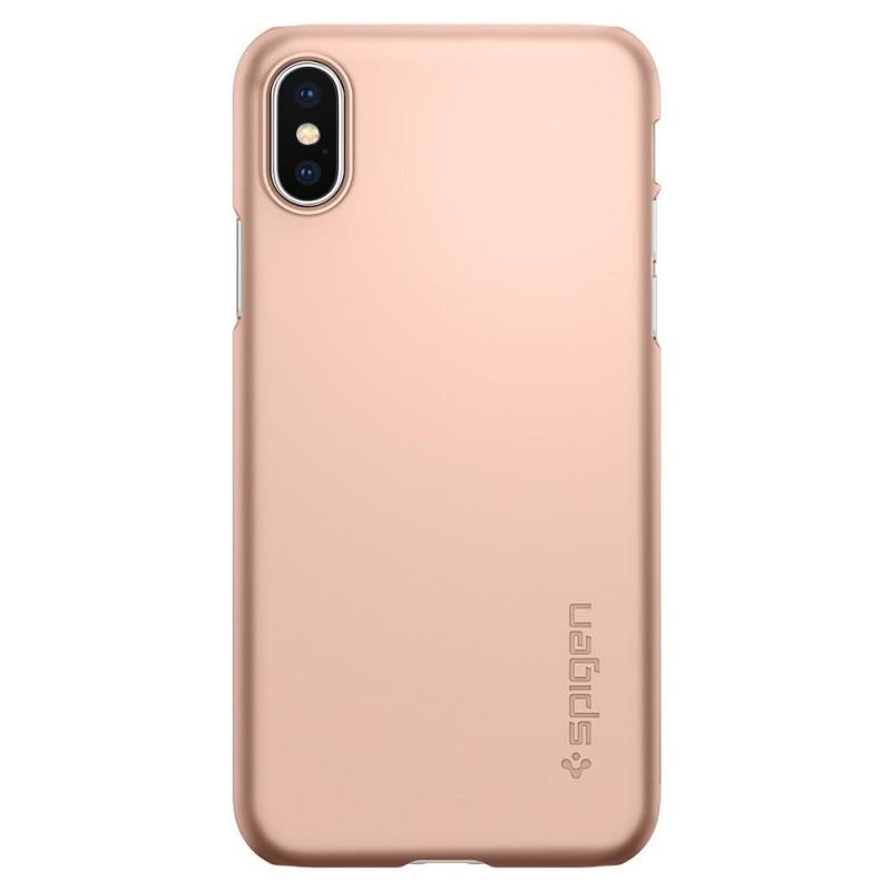 Spigen Thin Fit Case iPhone X/Xs Hoesje Blush Gold - 5