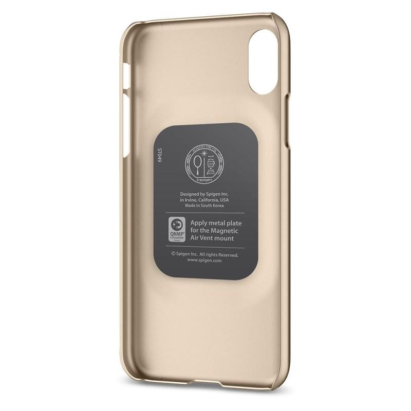 Spigen Thin Fit Case iPhone X/Xs Hoesje Goud - 4