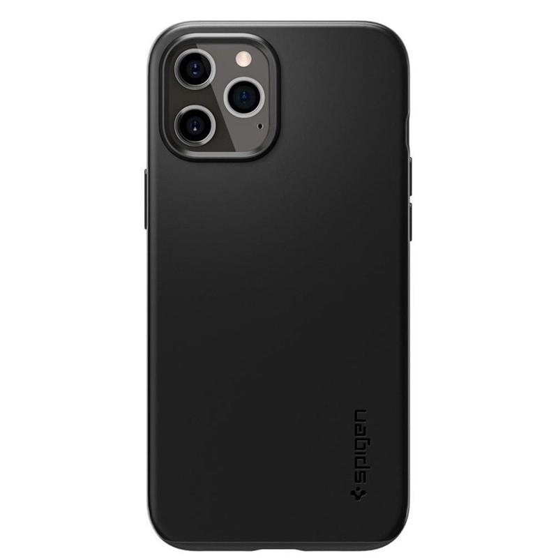 Spigen - Thin Fit Case iPhone 12 / iPhone 12 Pro 6.1 inch zwart 02