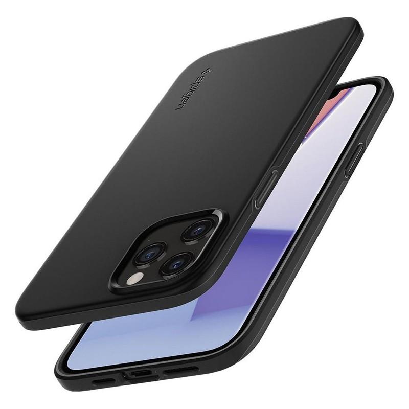 Spigen - Thin Fit Case iPhone 12 / iPhone 12 Pro 6.1 inch zwart 07