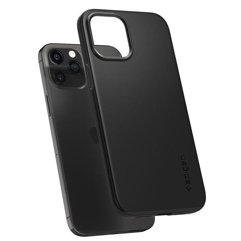 Spigen - Thin Fit Case iPhone 12 / iPhone 12 Pro 6.1 inch zwart 06