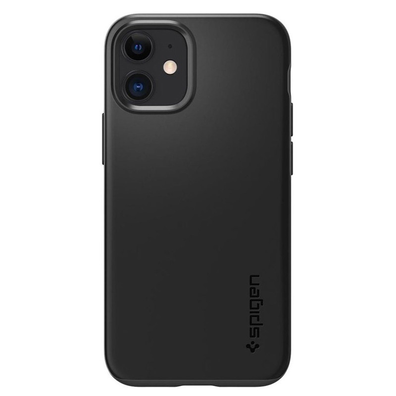 Spigen - Thin Fit Case iPhone 12 Mini 5.4 inch zwart 02