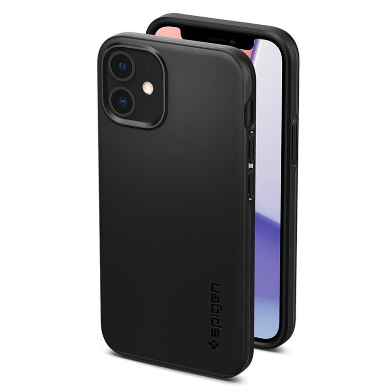 Spigen - Thin Fit Case iPhone 12 Mini 5.4 inch zwart 06