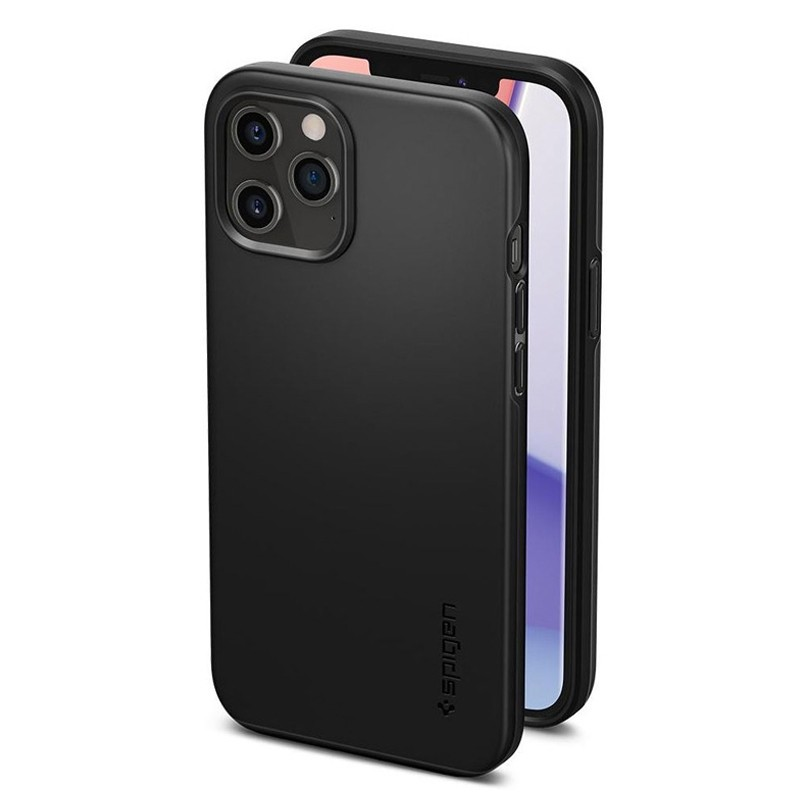 pigen - Thin Fit Case iPhone 12 Pro Max 6.7 inch zwart 04