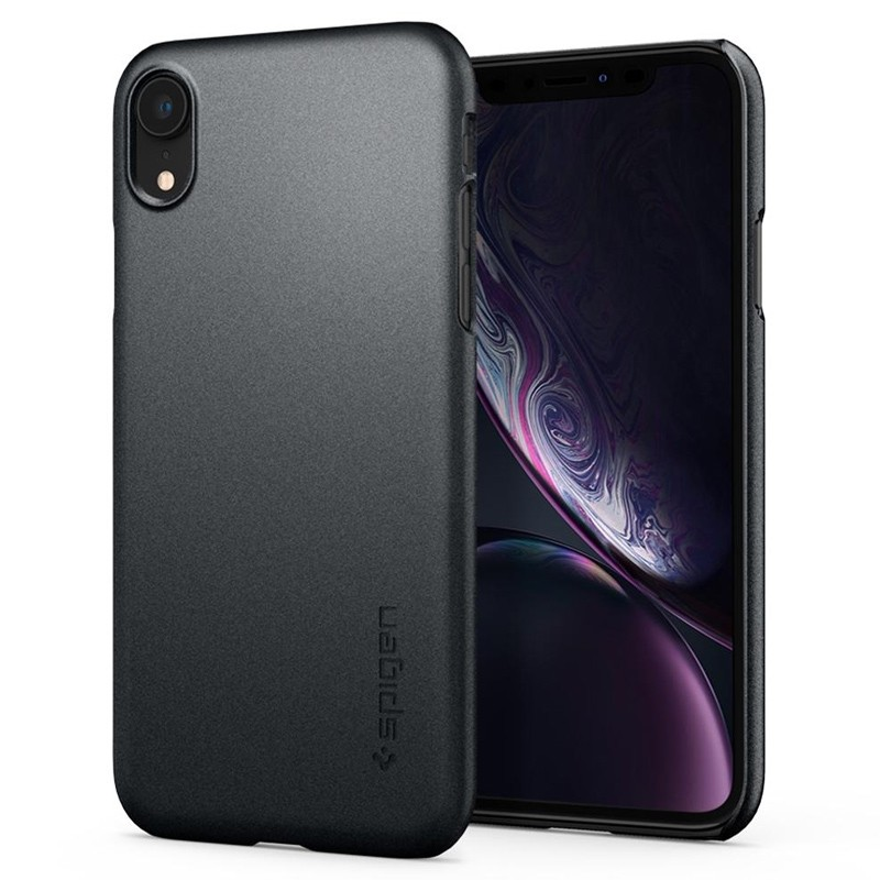 Spigen Thin Fit iPhone XR Case Graphite Grey 06