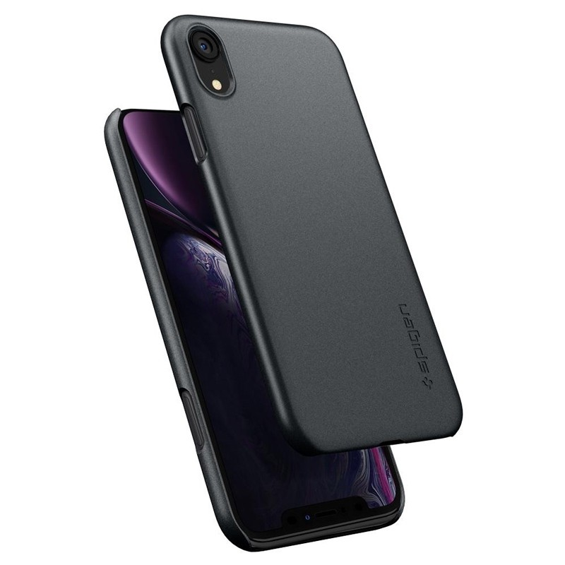 Spigen Thin Fit iPhone XR Case Graphite Grey 02