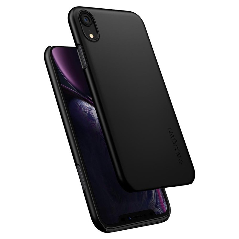 Spigen Thin Fit iPhone XR Case Zwart 02