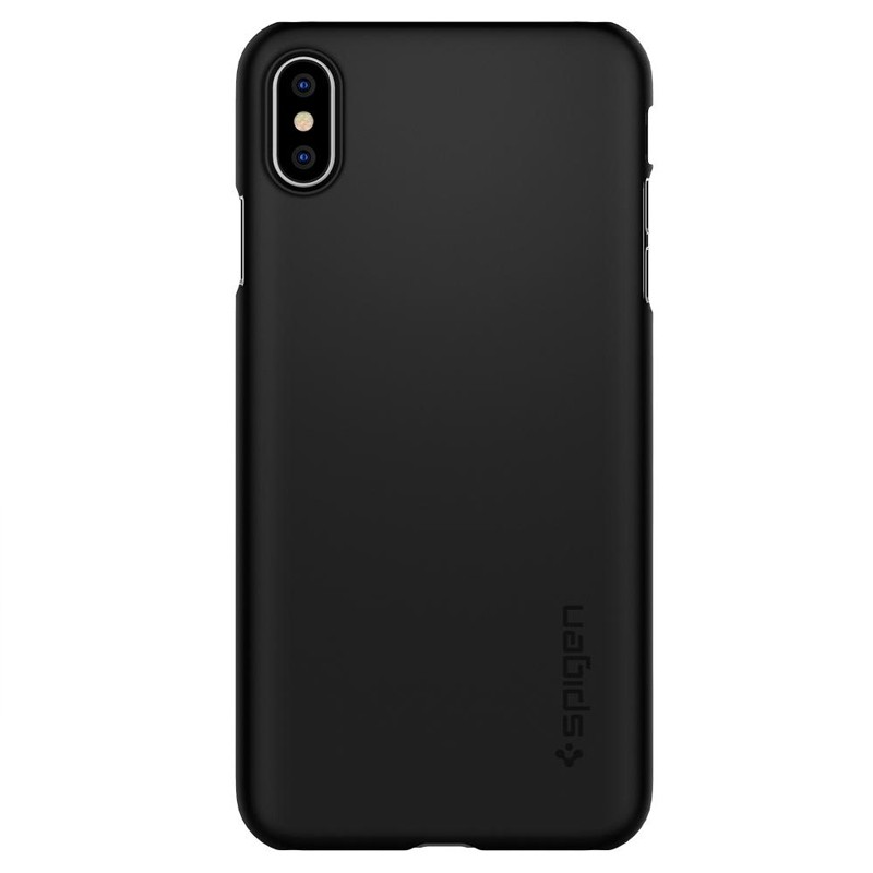 Spigen Thin Fit Case iPhone XS Max Hoesje Zwart 01