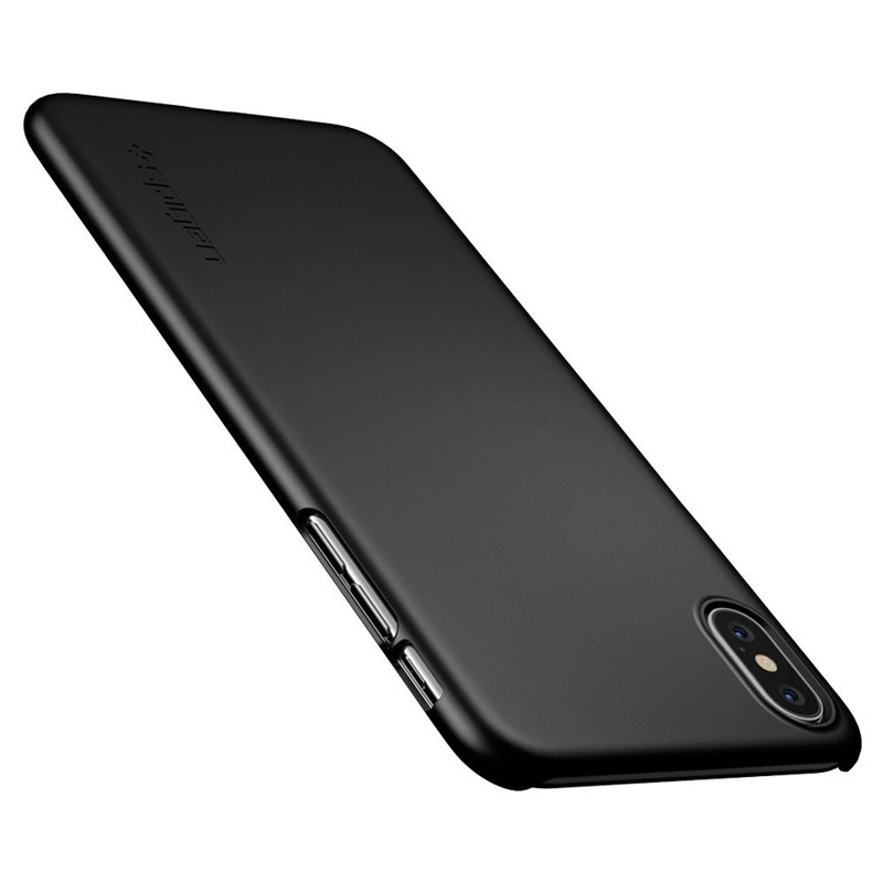 Spigen Thin Fit Case iPhone XS Max Hoesje Zwart 02