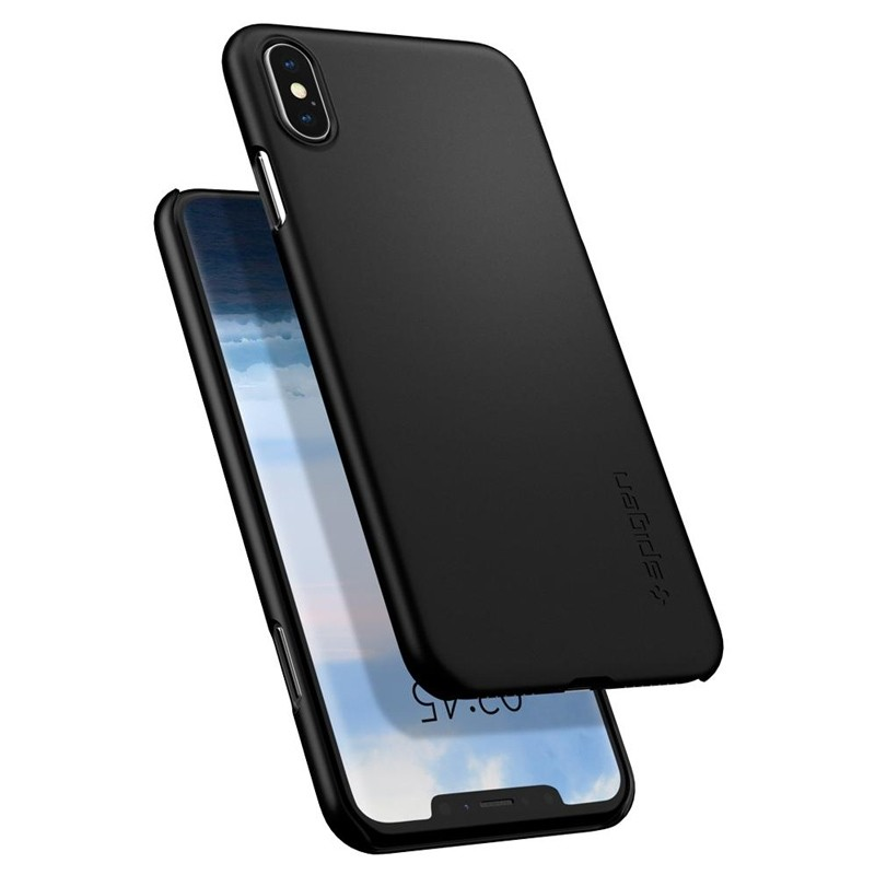 Spigen Thin Fit Case iPhone XS Max Hoesje Zwart 03