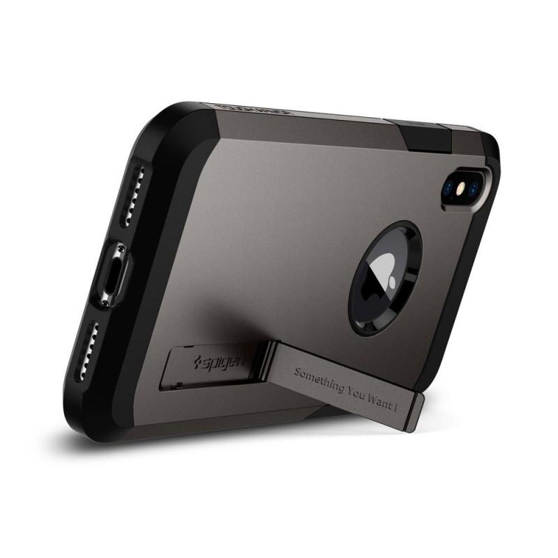 Spigen Tough Armor Case iPhone X/Xs Hoesje Gunmetal - 3