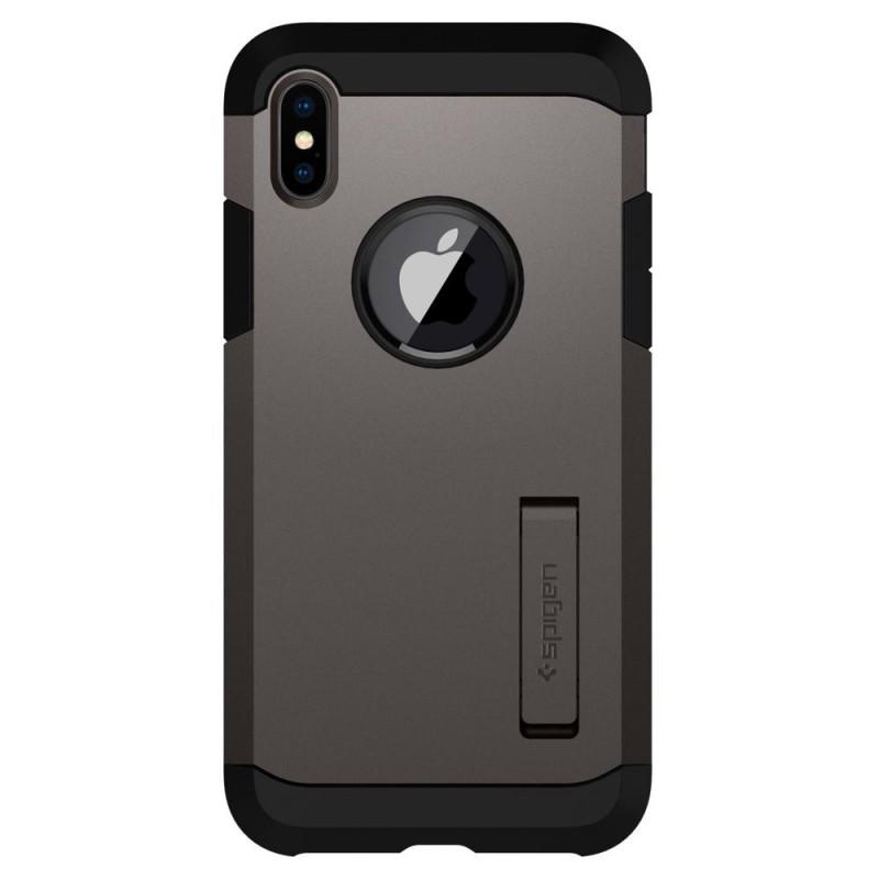 Spigen Tough Armor Case iPhone X/Xs Hoesje Gunmetal - 6