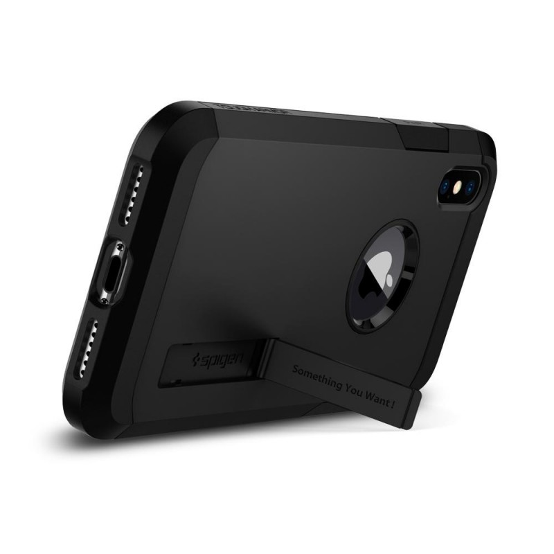 Spigen Tough Armor Case iPhone X/Xs Hoesje Mat Zwart - 2