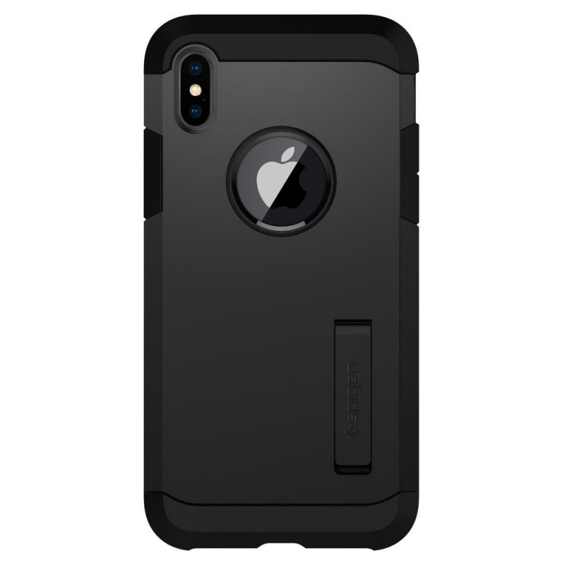 Spigen Tough Armor Case iPhone X/Xs Hoesje Mat Zwart - 4