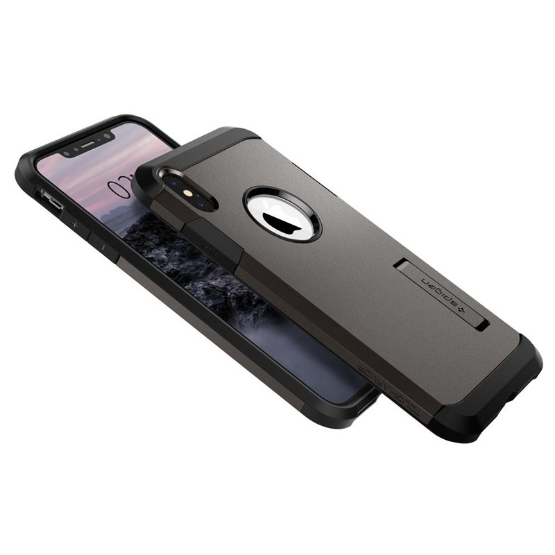 Spigen Tough Armor Case iPhone XS Max Gunmetal 06