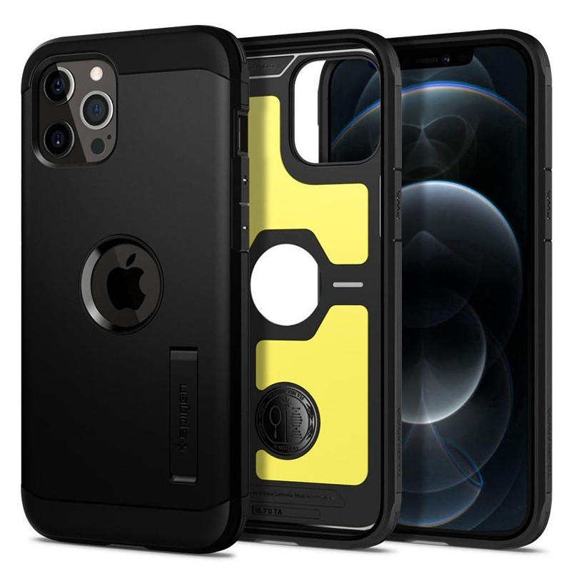Spigen - Tough Armor iPhone 12 / iPhone 12 Pro 6.1 inch zwart 07