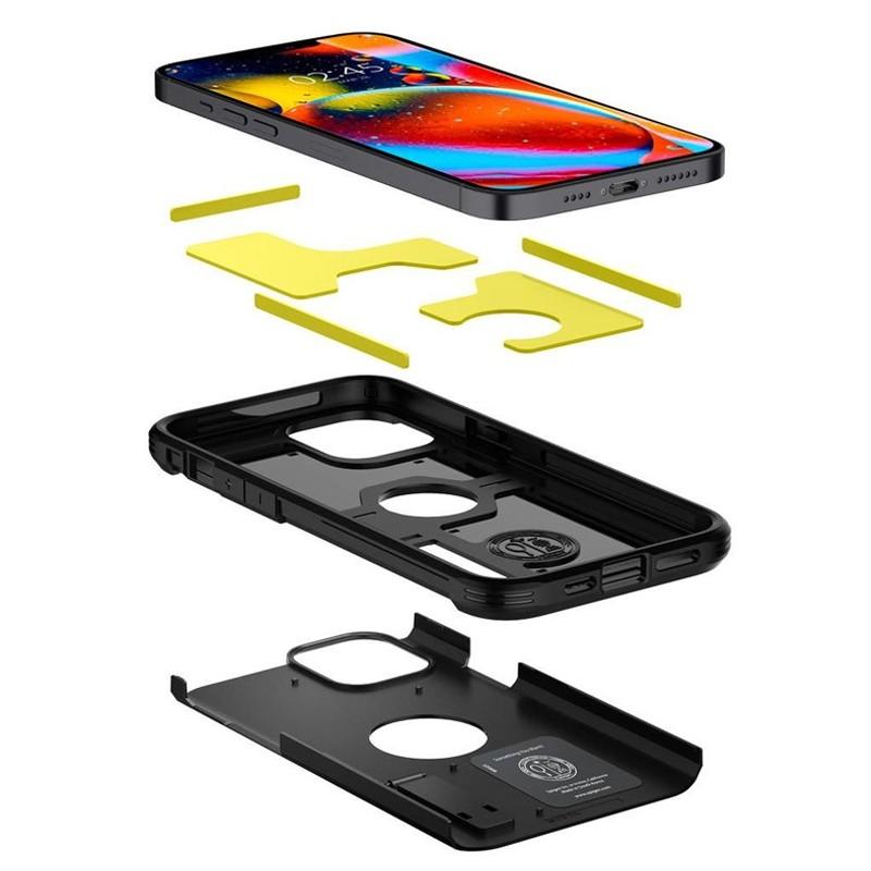 Spigen - Tough Armor iPhone 12 / iPhone 12 Pro 6.1 inch zwart 03