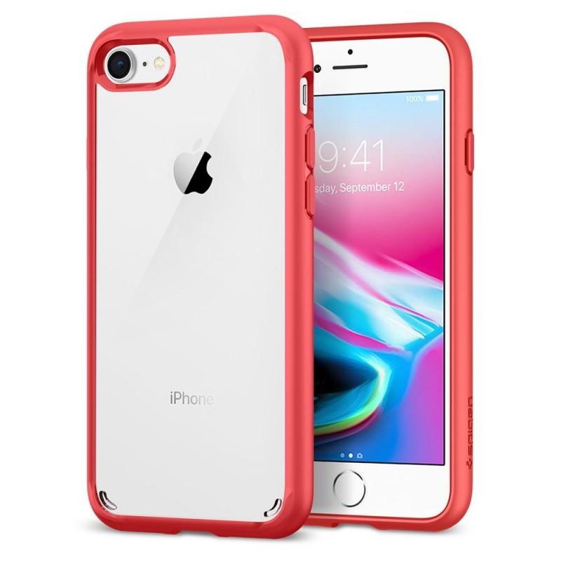 Spigen Ultra Hybrid 2 Case iPhone 8/7 Rood - 1