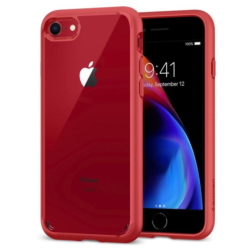 Spigen Ultra Hybrid 2 Case iPhone 8/7 Rood - 3