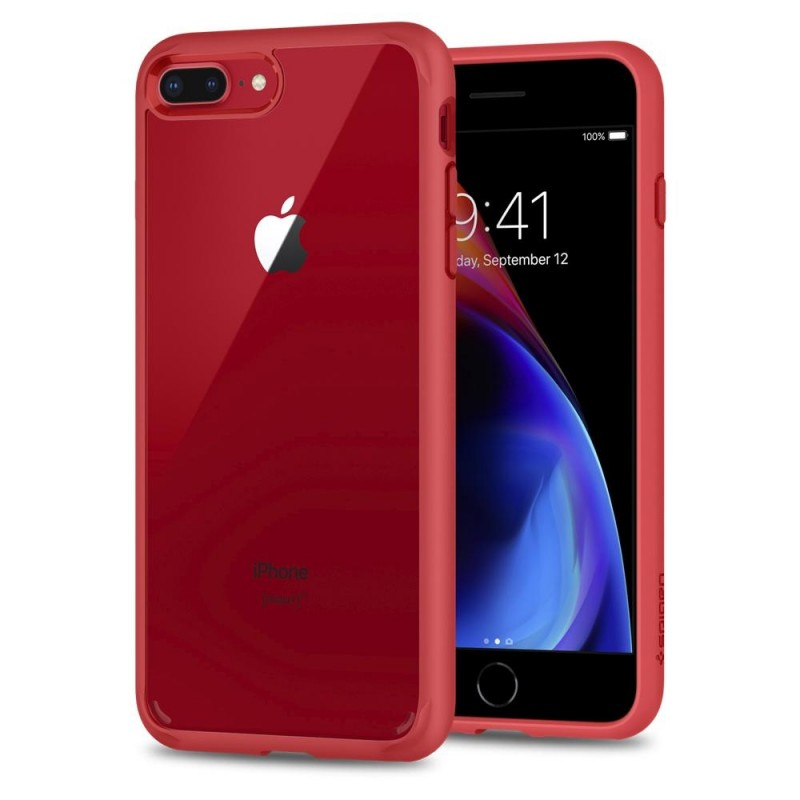 Spigen Ultra Hybrid 2 Case iPhone 8 Plus/7 Plus Rood - 1