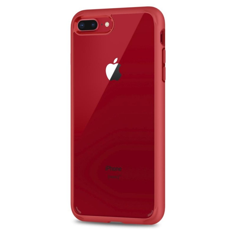 Spigen Ultra Hybrid 2 Case iPhone 8 Plus/7 Plus Rood - 4