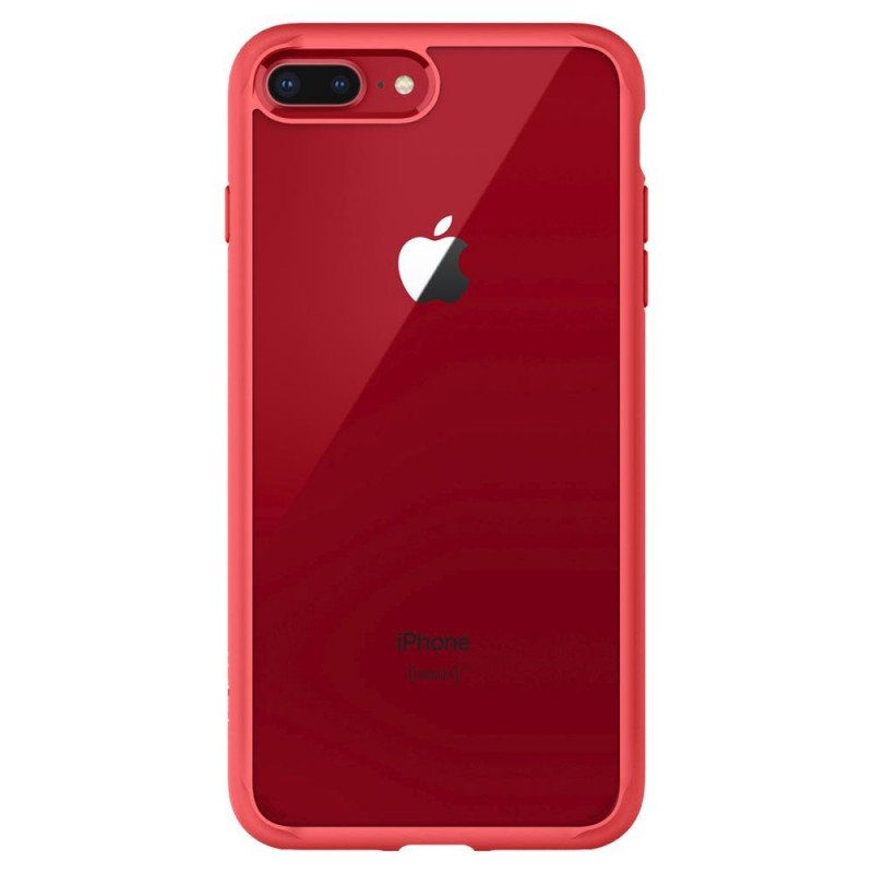 Spigen Ultra Hybrid 2 Case iPhone 8 Plus/7 Plus Rood - 5